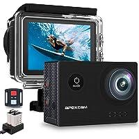 Apexcam X60Pro Action Cam 4K 60fps WiFi 20MP Unterwasserkamera 40M Wasserdicht 8xZoom EIS 170° Weitwinkel IPS-Panel(2.4G…