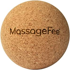 TriggerFairy® Cork Massage Ball - Fascia Ball. Natural Trigger Point and Fasciae Self Massager for Neck, Shoulders, Back, Buttocks and Feet.