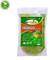 Malvaniya Herbal Care Indigo Powder For Hair Pure Hair Dye - Black (255 Grams)