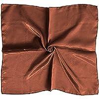 Satin Silk Large 90 cm X 90 cm Square Plain Nautical Head Neck Scarf Wrap 28 Colours SACL CLOTHING