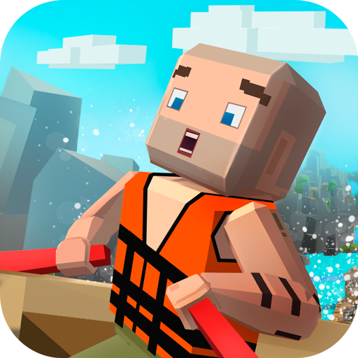 Pixel Faily Brakes: Boat Racing | Raft Survival Smashy Hit Challenge | Mad Racing No Brakes White Water Rafting