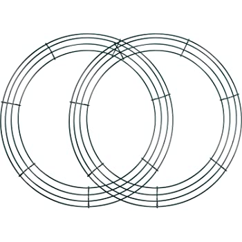 3 Pack Wire Wreath Rings Wire Wreath Frame for New Year Valentines ...