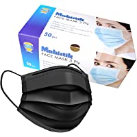 Mobistik 3 Layer Disposable Surgical Face Mask with Adjustable Nose Clip with BFE ≥ 95 | ISO Certified 3 Ply Surgical…