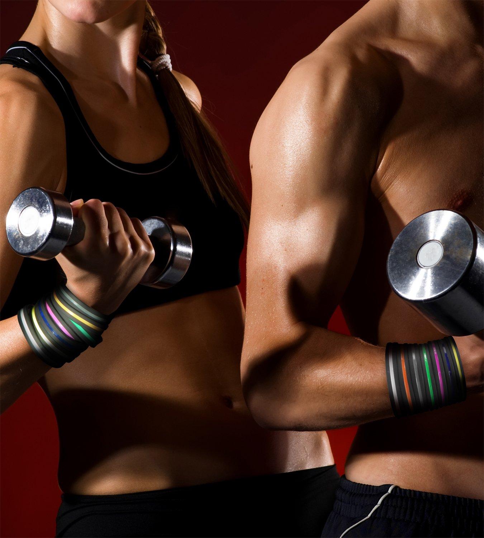 Solza Paquete de 7 Pulseras de Silicona Unisex Fitness, Gimnasio, Crossfit, Fútbol, Baloncesto, Y Otras Actividades… 6