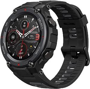 """Amazfit T-Rex Pro Smartwatch Orologio Intelligente GPS Integrato 10 ATM, Schermo AMOLED da 1,3"""", 100 Modalità di Allenamento, SpO2, Monitor del Sonno per Sport, Uomo, Donna, Nero"""