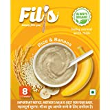 Fil's Organic Baby Cereal with Milk Rice and Banana (From 8-24 Months +, 300 g)