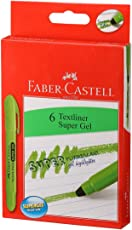 Faber-Castell Gel Textliner - Pack of 6 (Green)