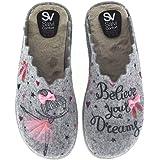 Zapatillas de Estar por casa para Mujer Divertidas Fabricadas en España Salvi 18L 320 Hielo - Color - Gris, Talla - 41