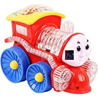 Flipzon Funny Loco Train Bump & Go Engine with Flashing Led Lights, Assorted Color, Multi Color