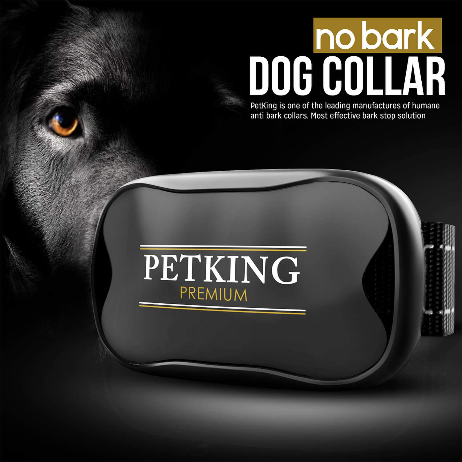 No Bark Dog Collar – Anti Bark Device for Small Medium Large Dogs | Stop Excessive Barking – No Shock or Spray Dog Bark Collar | Safe & Humane Anti-Bark Aids | Harmless Vibration Anti-Barking Collars