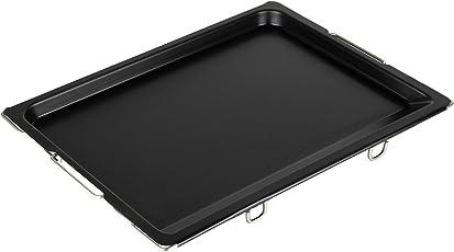 Grizzly Backblech 2cm Hoher Rand verstellbare Griffe Ofenblech ausziehbare Handgriffe Herdblech für alle Ofengrößen für leckere Kuchen und Pizzen Kuchenblech flexibel Pizzablech schwarz Made in Germany