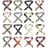 10 sciarpe miste di seta da donna, sciarpe in raso floreale multiuso per collo da donna, con manico a nastro, sciarpa, sciarp
