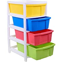 Aristo Houseware Plastic 4-Drawer Rack (38x30x60.90cm, Multicolour)