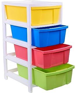 Aristo Houseware Plastic 4 Drawer Rack  38x30x60.90cm, Multicolour
