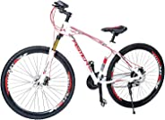 Aster Tsz760 Mountain Bike - White Red 29 Inch (Multi Color)