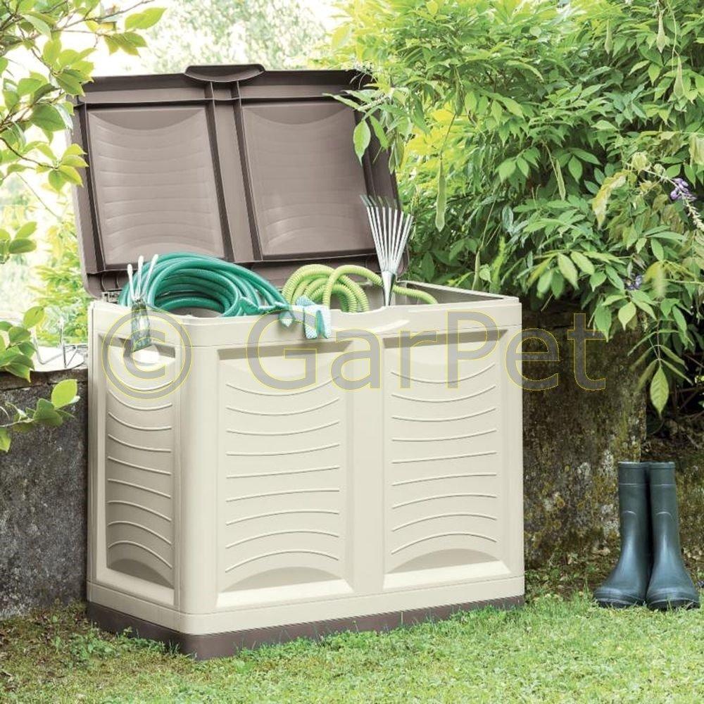 Bama Spa Garten Aufbewahrungsbox XL Auflagenbox Kissen Box Gartentruhe Kiste Truhe 200 L