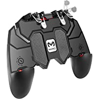 CQLEK® Mobile Game Controller with L1R1 L2R2 Triggers, PUBG 6 Fingers Operation, Joystick Remote Grip Shooting Aim Keys…