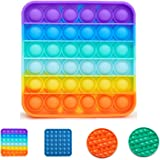 Narsam Pop It Bubble Fidget Toy, Gioco Antistress Rilassante per Adulti e Bambini (Arcobaleno)