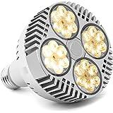 LED Grow Glödlampa 120W Fullspektrum Växtlampa E27 Solliknande vit LED Växtlampa Fläktkylning för Inomhus Trädgård Hydroponic