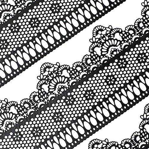 musykrafties fertig zu verwenden Essbar Kuchen Spitze Gitter mit klein Daisy schwarz 14-inch 20 Stück Set