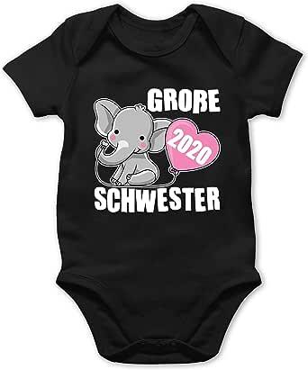 Shirtracer Anl/ässe Baby Baby Body Kurzarm f/ür Jungen und M/ädchen kleine Schwester seit 2020