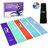 Victorem Mini Loop Resistance Bands - Exercice, Remise en Forme Physique, Entraînement Entraînement à la Maison - Crossfit, Exercice, Fitness - Étirement, Mobilité, Physiothérapie