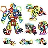 109 bloques magnéticos de construcción   Kit de arco iris de construcción magnética 3D   Bloque de construcción STEM regalo e