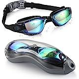 نظارات سباحة من إيجيند، نظارات سباحة لا تسرب، حماية من الأشعة فوق البنفسجية، نظارات سباحة ثلاثية الترياتلون مع حقيبة حماية مج