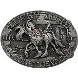 YONE Hebilla de cinturón Lucky Luke Horse Rider Cowboy Belt Buckle