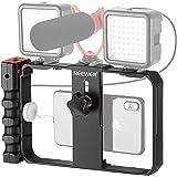 Neewer Plastica Smartphone Video Rig, Cassa per Cinematografia, Stabilizzatore per Smartphone Video, Treppiedi e Impugnatura