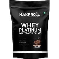 NAKPRO PLATINUM 100% Whey Protein Isolate 1 kg Chocolate, 28g Protein, 6.4 BCAA & 4.9g Glutamine, Whey Protein…