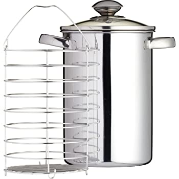 Kitchen Craft 3 litri in acciaio inossidabile Asparagus Steamer, 24.6 x 21.6 x 16.6 cm