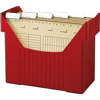 herlitz 1611326 h ngeregistraturbox h ngebox a4 rot big boy mit 5 h ngemappen natron. Black Bedroom Furniture Sets. Home Design Ideas