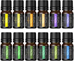 Anjou Olio Essenziale Set di 12 per Aromaterapia, Oli Essenziali Puri Naturali per Diffusore e Massaggi, Ciascuna...