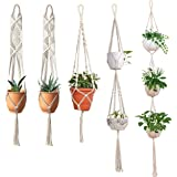 ecofynd Cotton Plant Hanger, White, 40 - 80 inches long, 5 Pieces
