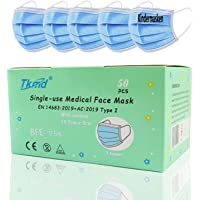 50X Small Medical Face Mask Kleine Kopfform Kindermasken EN14683 Type I 3-lagig Medizinische Einweg Schutzmasken BFE 95…