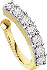 Chandrika Pearls Gems & Jewellers Gold Metal Press On Nose Ring - No Piercing for Women