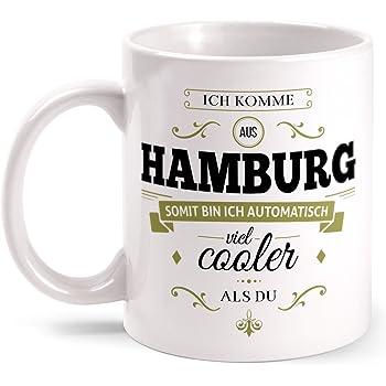Tasse Ich Hamburg Aus Mit Komme Bedruckt Fashionalarm Beidseitig VpSzMjUGLq