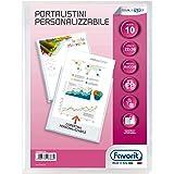 Favorit 100460324 - Portalistino Personalizzabile 10 Buste, 22 x 30 cm, Trasparente