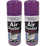 Lazer Lot de 2 sprays nettoyants à air comprimé - Pour retirer la poussière et nettoyer les claviers, ordinateurs portables,