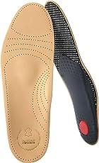 biped Premium Fußbett aus pflanzlich gegerbtem Leder - mit Pelotte - Mittelfußstütze - Fersenpolster und Aktivkohle z1706