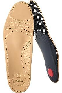 ef23f7854b2ba2 biped Premium Fußbett aus pflanzlich gegerbtem Leder - mit Pelotte -  Mittelfußstütze - Fersenpolster und Aktivkohle