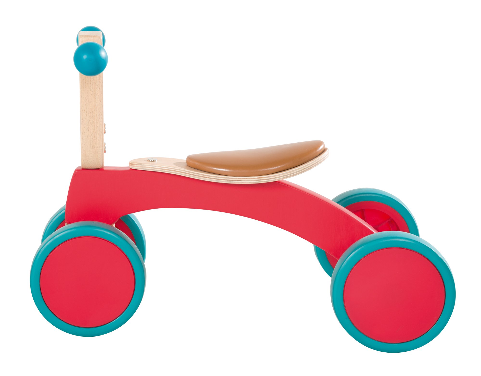 roba Wooden Vehicle for Toddlers from 1Year Old  This Roba wooden vehicle is the ideal learner's bicycle from toddlers of 12months and over to learn about balance and body coordination while having fun. The vehicle has a soft padded seat that is 22cm in height, and is suitable for children who are 80cm tall and over. The large coloured rubber tyres made from soft material (won't harm the floor) ensures a secure grip and is easy to move forward – for indoor and outdoor use. 3