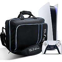 Sac pour PS5, Housse Transport pour PS5 Console Disc/Digital Edition et Manette, Sacoche Protection Étui Transport pour…