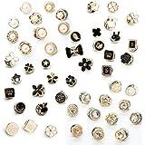 50 pezzi Camicia da donna Spilla Bottoni Spilla di sicurezza Spille Bottone per bottoni Bottoni invisibili in metallo Spilla