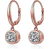 jiamiaoi Pearl donne moda orecchini di perle,925 in argento Sterling 10 mm Perle, bella e pendenti orecchini di perle, orecch