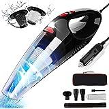 RIKIN Aspirapolvere per Auto 8500PA 120W Aspirabriciole Portatile Potente con Luce LED a Mano Basso Rumore…