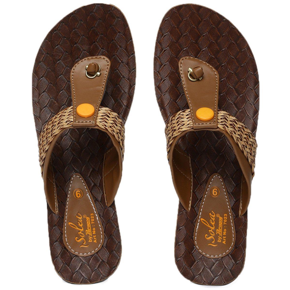5f30850fdb0cb PARAGON SOLEA Women s Brown Flip-Flops - Ratzz Collection