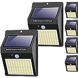 【6 Pack - 3 Mode】Lampe Solaire Extérieur, Hepside 100 LED Lumiere Solaire Exterieur Éclairage Solaire Exterieur Detecteur de