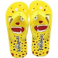 Bahamas Unisex Yellow Red Slippers-1 Kids UK (33 EU) (BHK008C_YLRD0001)